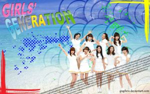 SNSD at the Beach by GraPHriX