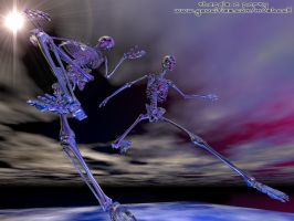 Dancing skeletons by musback
