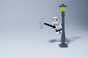 Storm Trooper Singing in the Rain by StewNor