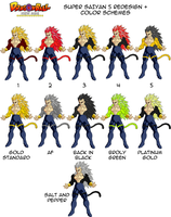 SSJ5 Redesigns Full Palette by MalikStudios