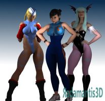Girls of games by Radamantis3d