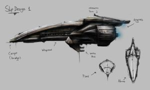 G.O.S Ship Concept Sketch 1 by TGHarrison