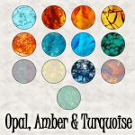 Opal, Amber, Turquoise Pats by slavetofashion69