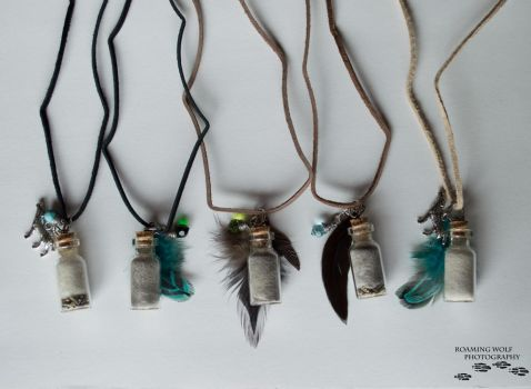 Unique Handmade Wolf Fur Necklaces by LoneStray
