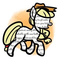 Drawwithwords: Applejack by Asterismo
