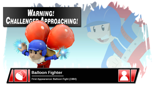 SSB4 Banner: Balloon Fighter by Pixiy