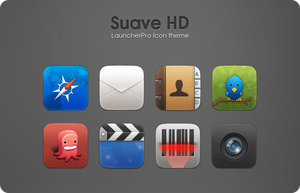 Suave HD LauncherPro theme by hundone