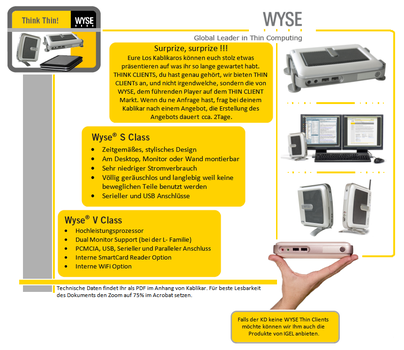 WYSE Thin Clients by Sunogdy