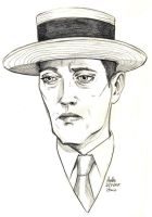 Daily Sketches Buster Keaton by fedde
