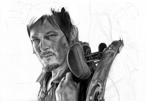 Daryl Dixon WIP 2 by marcelkiss