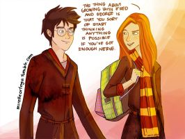 Ginny And Harry by illustrationrookie