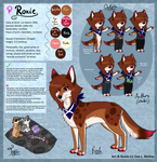 Alternate Fursona: Roxie Ref. Sheet .:2014:. by ScottishRedWolf