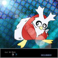 Day 18  Delibird by Jacklave