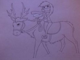 Me riding a reindeer lol by oOstaceyOo