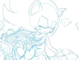 Sonic and Sally sketch by SkyTye