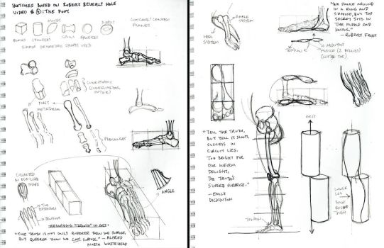 2015 Robert Beverly Hale Sketches and Notes 4 of 6 by arielaguire