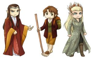 Hobbit Stickers by ladyarrowsmith