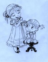 Elsa and Anna (babies) 001 by SophiaLiNkInFaN93