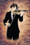 Sherlock plays the violin like a boss by Spottedfire94