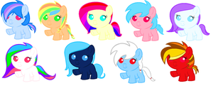 Rainbow Dash Shipping Adopts by xPixels-Puff-Adoptsx