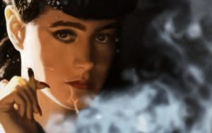 blade runner rachel smoking by kizzShizzle