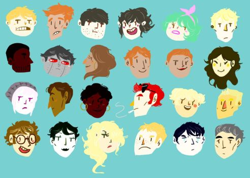 Floating Heads by RoyalBalloon