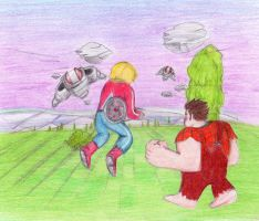 Welcome to the Fantasy Zone ~Space Harrier by Reallyfaster