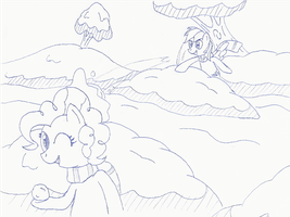 Pinkie Dash Snowball Fight by Doctor-G