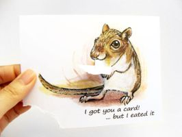 Hungry Gerbil Greeting Card by sobeyondthis