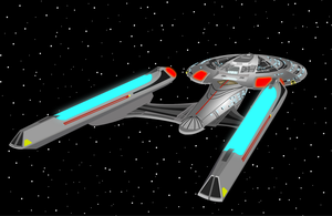 ENTERPRISE E AFT VIEW by S0LARBABY