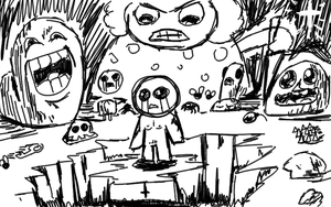Isaac doodle by kevinjorg