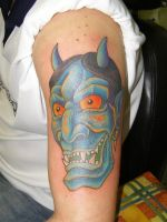 Jap mask tattoo 4 by Inkcastle
