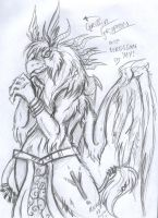 Griffin, Gryphon anthro by Pink-Myotis