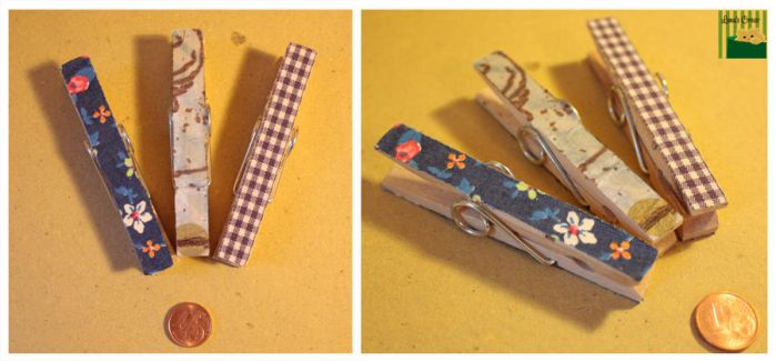 Decorated wood clothespins by Copper-Moon