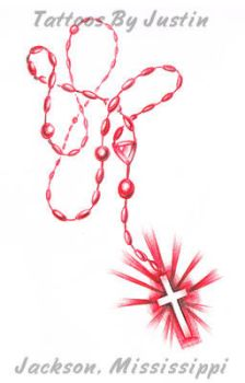 Red Rosary by jacksonmstattoo
