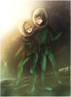 Space travel for 2 by Velexane