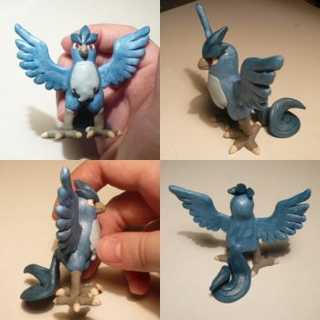 Articuno Sculpture by ChibiSilverWings