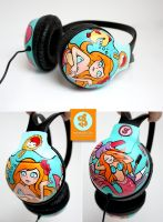 Uhh Mermaid headphones by Bobsmade