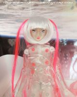 Miss Cnidaria - Custom Obitsu Clear doll by Nko-ennekappao