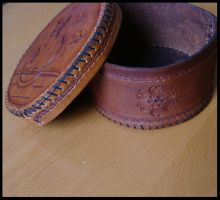 Cat Leather Box 3 by Bear-Crafter