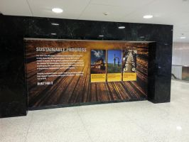 Caterpillar Corporate Headquarters Lobby by signcrafter