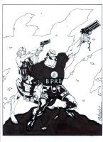 Hellboy commish by Uncle-Gus