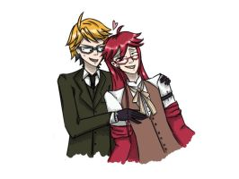 Ronald and Grell by JueliyaForever