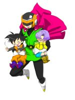 greatsaiyaman and saiyankids by Natsuhati