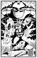 Thor for J. Kirby Tribute at penciljack.com - Inks by Almayer