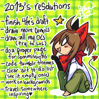 2013 Resolutions by ClefdeSoll