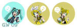 Vocaloid Button set. by GreenWiggly
