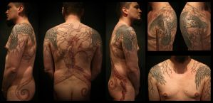 Yggdrasil halfbody by Meatshop-Tattoo