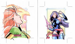 Cards Women's of Marvel 13-14 by GlaucoSilva
