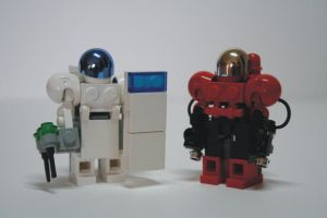 LEGO Terran Firebat and Medic by amreever